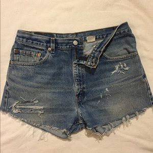 Vintage Levi's 505 Distressed High Waisted Shorts